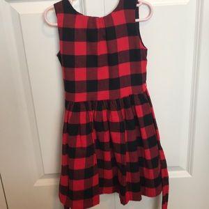 Carter's Girls red & black buffalo check dress